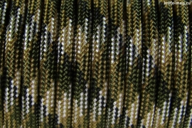Paracord Type III 550, Camo 4 colors Olive&Coyote&Silver Grey&Black