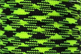 Paracord Type III 550, Camo Black&LimeGreen