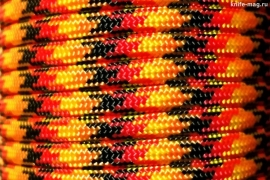 Paracord Type III 550, Flame Black&Red&Gold&Orange