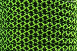 Paracord Type III 550, Grid LimeGreen&Black