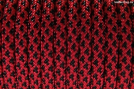 Paracord Type III 550, Leopard Red&Black