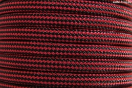 Paracord Type III 550, Strips Black&Red