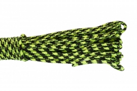 Paracord Type I 100, Camo Black&LimeGreen