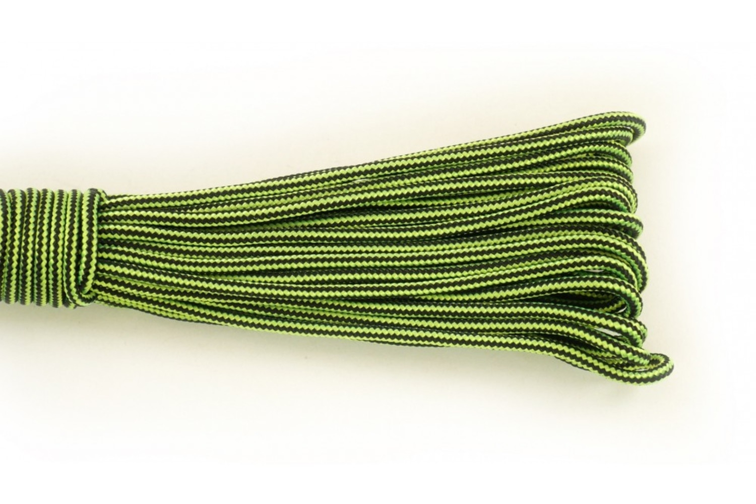 Paracord Type I 100, Strips Black&LimeGreen
